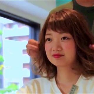 ナチュラル ゆるふわ くせ毛風 かわいい ヘアスタイルや髪型の写真・画像