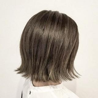 透明感 ハイライト ボブ ナチュラル ヘアスタイルや髪型の写真・画像