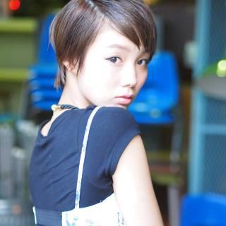ストリート ガーリー ショート モテ髪 ヘアスタイルや髪型の写真・画像