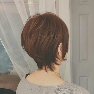 透明感 大人かわいい ショート アッシュ ヘアスタイルや髪型の写真・画像