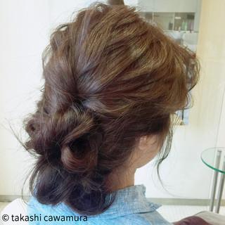 ロング アッシュ 簡単ヘアアレンジ ねじり ヘアスタイルや髪型の写真・画像