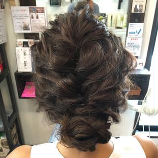 ロング 夏 アップスタイル 大人かわいい ヘアスタイルや髪型の写真・画像