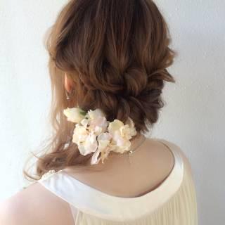 モテ髪 結婚式 愛され フェミニン ヘアスタイルや髪型の写真・画像