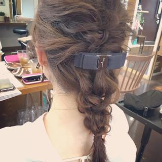 結婚式 簡単ヘアアレンジ デート 上品 ヘアスタイルや髪型の写真・画像