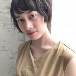大人かわいい ショート ナチュラル 色気 ヘアスタイルや髪型の写真・画像