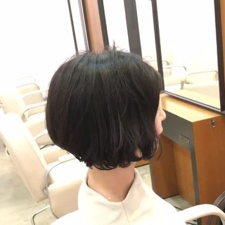 モード 前下がりボブ 黒髪 ボブ ヘアスタイルや髪型の写真・画像