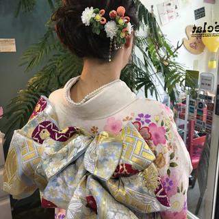 パーティ 成人式 フェミニン ミディアム ヘアスタイルや髪型の写真・画像