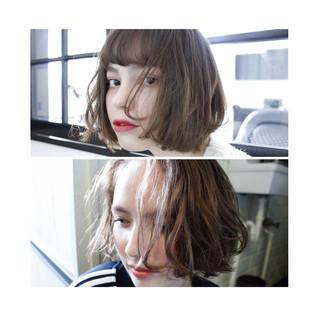 アッシュ 色気 外国人風 ナチュラル ヘアスタイルや髪型の写真・画像