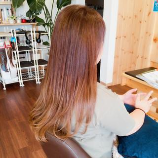 グラデーションカラー ロング ストリート ハイトーン ヘアスタイルや髪型の写真・画像