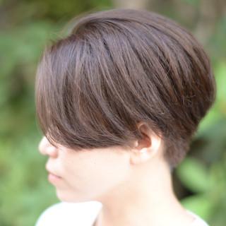 パーマ 前下がりボブ アッシュ ショートボブ ヘアスタイルや髪型の写真・画像 ヘアスタイルや髪型の写真・画像