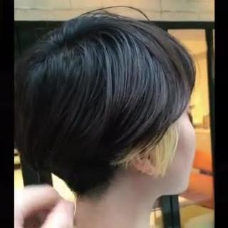 ショート 刈り上げ 上品 ショートボブ ヘアスタイルや髪型の写真・画像