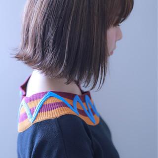 ハイライト ボブ グレージュ 外国人風 ヘアスタイルや髪型の写真・画像
