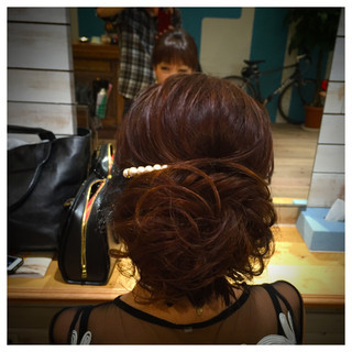 アップスタイル 編み込み ヘアアレンジ 結婚式 ヘアスタイルや髪型の写真・画像