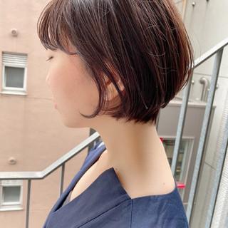 ショートヘア ショートボブ デート ショート ヘアスタイルや髪型の写真・画像