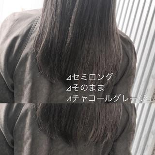 ミルクティーグレージュ スモーキーカラー アッシュグレージュ ナチュラル ヘアスタイルや髪型の写真・画像