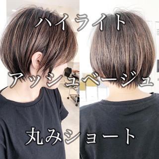 ストレート ショートボブ ショート ミニボブ ヘアスタイルや髪型の写真・画像