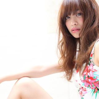 ヘアアレンジ モテ髪 ロング 夏 ヘアスタイルや髪型の写真・画像