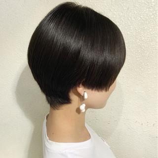 ショート ハンサム 黒髪 ハンサムショート ヘアスタイルや髪型の写真・画像