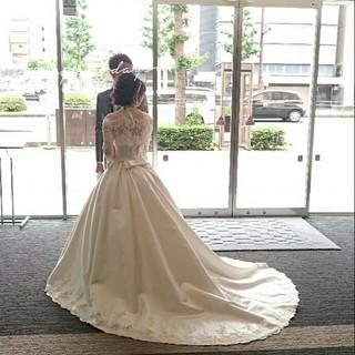 結婚式 ロング ヘアアレンジ ブライダル ヘアスタイルや髪型の写真・画像