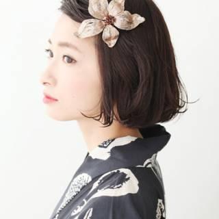 大人かわいい ショート ナチュラル 夏 ヘアスタイルや髪型の写真・画像