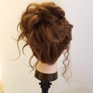 簡単ヘアアレンジ ヘアアレンジ ガーリー 結婚式ヘアアレンジ ヘアスタイルや髪型の写真・画像