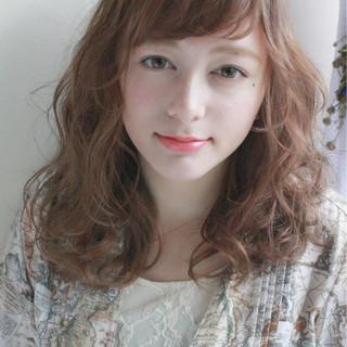 女子会 パーマ ナチュラル デート ヘアスタイルや髪型の写真・画像