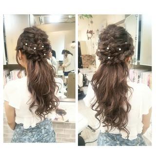 パーティ ゆるふわ ハーフアップ 結婚式 ヘアスタイルや髪型の写真・画像 ヘアスタイルや髪型の写真・画像