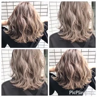 ウェーブ 春 ブラウンベージュ ハイライト ヘアスタイルや髪型の写真・画像 ヘアスタイルや髪型の写真・画像