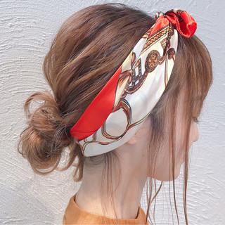 ヘアアレンジ セミロング コンサバ 女子力 ヘアスタイルや髪型の写真・画像