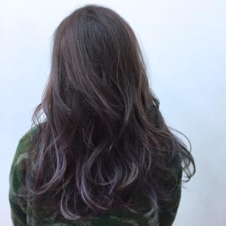 暗髪 ストリート パープル モード ヘアスタイルや髪型の写真・画像