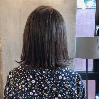暗髪 ミディアム 透明感 外国人風カラー ヘアスタイルや髪型の写真・画像