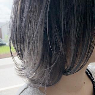 透明感カラー グラデーションカラー ナチュラル ボブ ヘアスタイルや髪型の写真・画像