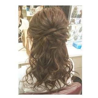 デート ゆるふわ セミロング フェミニン ヘアスタイルや髪型の写真・画像
