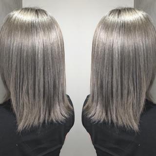 ストリート グラデーションカラー ブリーチ ミディアム ヘアスタイルや髪型の写真・画像