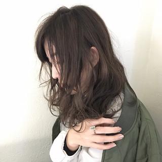 小顔 セミロング パーマ 大人女子 ヘアスタイルや髪型の写真・画像