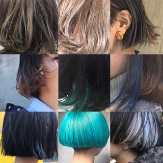 モード ニュアンス ボブ アッシュ ヘアスタイルや髪型の写真・画像 ヘアスタイルや髪型の写真・画像