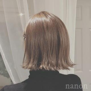こなれ感 外ハネ ボブ デート ヘアスタイルや髪型の写真・画像