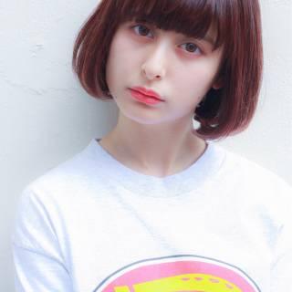 ヘアアレンジ シースルーバング ストリート ガーリー ヘアスタイルや髪型の写真・画像