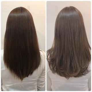 セミロング アンニュイ フェミニン バレンタイン ヘアスタイルや髪型の写真・画像