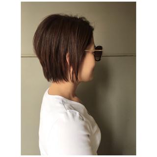 2ブロック ショートレイヤー モード ショートボブ ヘアスタイルや髪型の写真・画像