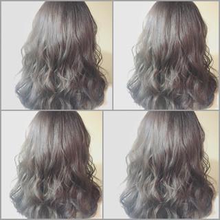 ゆるふわ セミロング 外国人風 フェミニン ヘアスタイルや髪型の写真・画像