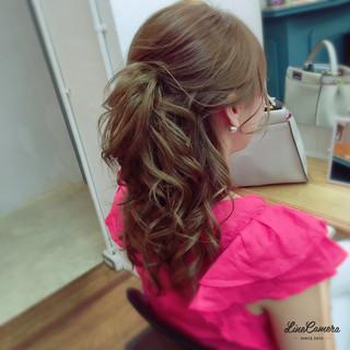 ミディアム ゆるふわ ヘアアレンジ 巻き髪 ヘアスタイルや髪型の写真・画像 ヘアスタイルや髪型の写真・画像