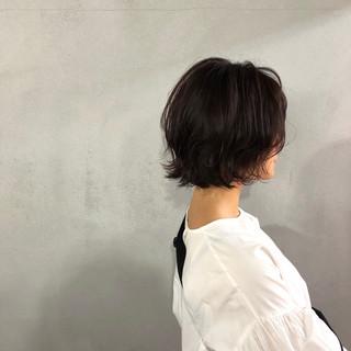 ワンレングス ボブ 似合わせ ショート ヘアスタイルや髪型の写真・画像