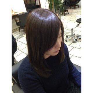 ラベンダーアッシュ 外国人風 セミロング ガーリー ヘアスタイルや髪型の写真・画像
