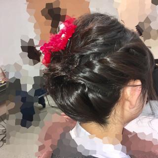 ヘアアレンジ 着物 フェミニン アップスタイル ヘアスタイルや髪型の写真・画像 ヘアスタイルや髪型の写真・画像
