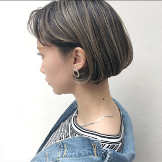 外国人風カラー グレージュ ハイライト アンニュイほつれヘア ヘアスタイルや髪型の写真・画像