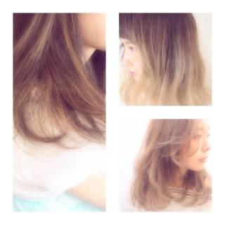 ハイライト ハイトーン 冬 外国人風 ヘアスタイルや髪型の写真・画像