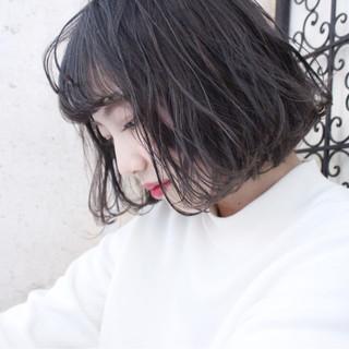 ボブ 外国人風 大人かわいい 冬 ヘアスタイルや髪型の写真・画像
