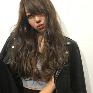 暗髪 ハイライト アッシュ ストリート ヘアスタイルや髪型の写真・画像