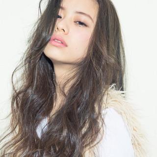 グラデーションカラー 外国人風 ストリート ロング ヘアスタイルや髪型の写真・画像